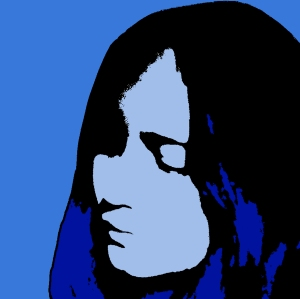 Blue Outline Girl